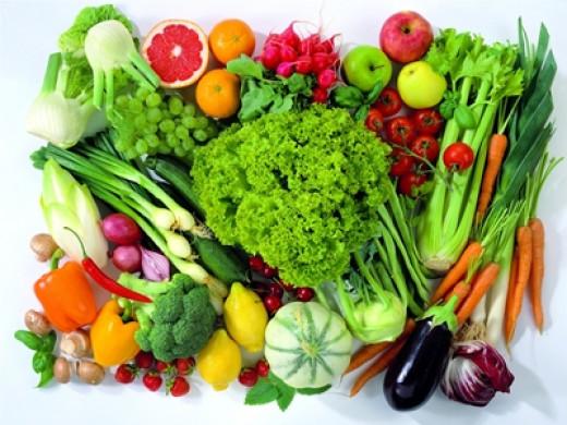 Antioxidants rich vegetables