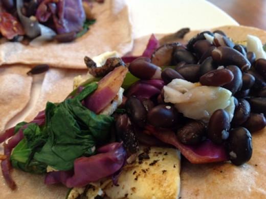 Healthy antioxidants meal for dinner