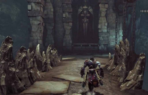 Darksiders 2 Find the Skeleton Key in the Breach by pulling up the draw bridges