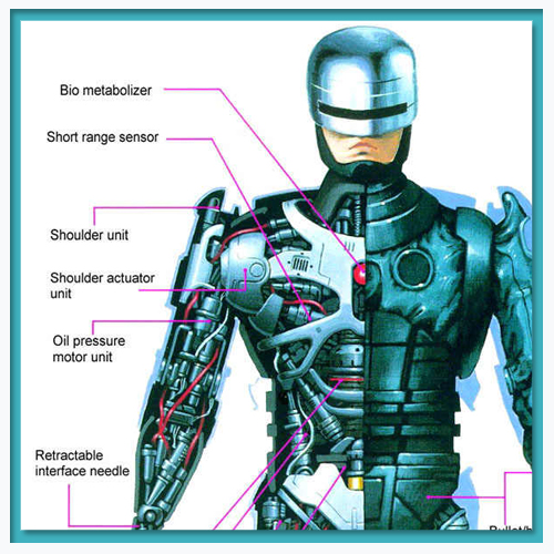 What's behind Robocop's armor?