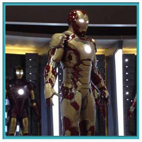 Another look at Iron Man's new armor.