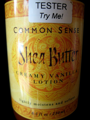 Shea Butter Lotion is probably more lotion than shea butter.  Why pay for water and preservatives, when you can make a moisturizer at home?