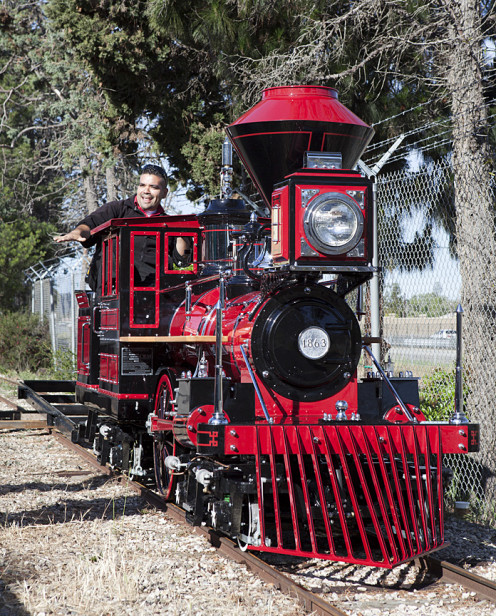 Emmett The Train recently joined the train family at the Santa Barbara Zoo.