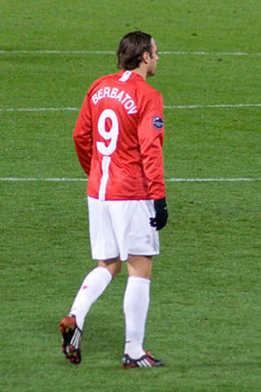 Dimitar Berbatov with Manchester City.