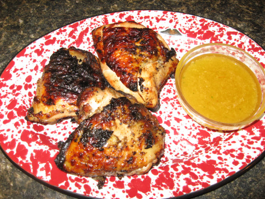 Recipe for Grilled Chicken - with garlic honey butter