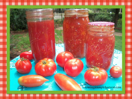 Canning your own food is a great alternative to purchasing cans lined with BPA.