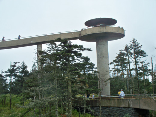 The Observation Tower at the top of Clingman's Dome in Great Smoky Mountain National Park