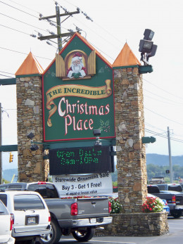 The Incredible Christmas Place's Sign