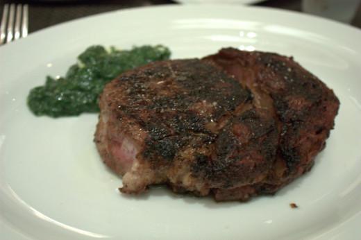 A Nebraska 35 day aged steak from CUT.