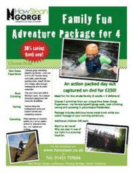 How Stean Gorge family activities leaflet, see what suits you on the 'menu'