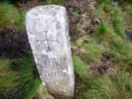 Great Haw parish boundary marker - watch out for old trackway signage and parish boundary markers