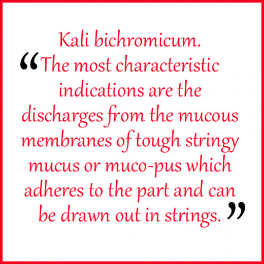 The most characteristic indications are the discharges from the mucous membranes of tough stringy mucus or muco-pus which adheres to the part and can be drawn out in strings.