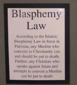 Here is a little information on interfaith blasphemy that can get people into more trouble than it is worth.