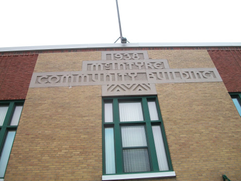 Detail, McIntyre Community Building, Schumacher, Timmins