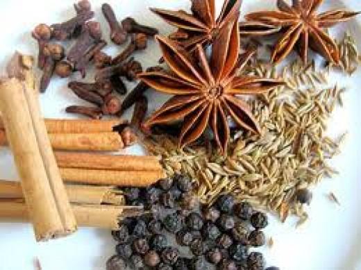 Five-spice powder ingredients