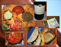 Salsa types, popular state wine, chiles in peanut candy, kale quesadillas, and guacamole dip