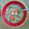 Gluten Free Chicken and Rice Soup.. just what the weather ordered!