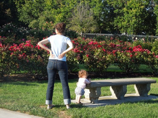 A Baby at Municipal Rose Garden in San Jose CA