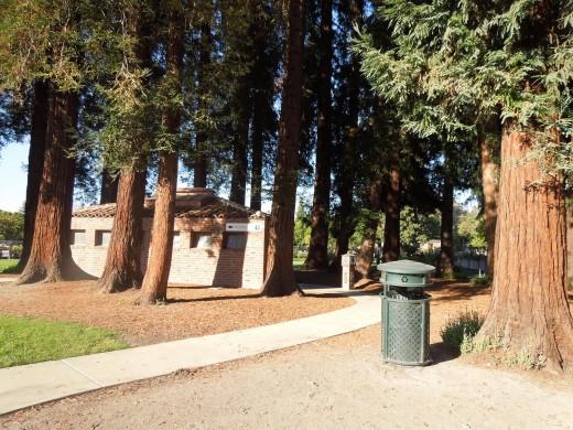Public Restroom at Municipal Rose Garden in San Jose CA