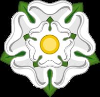 Yorkshire's symbol, the White Rose of York