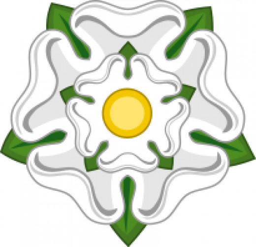 Yorkshire's symbol, the White Rose of York