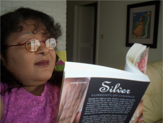 Me, reading my first novel in my Tales from the Quarters Collection, Silver: Currents of Change.