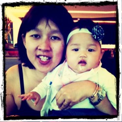 Dominique Goh with her little Tiger Girl
