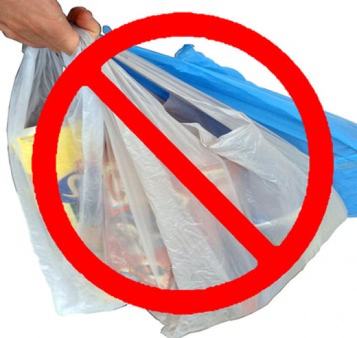 Please use cloth bags, not plastic bags when you shop.