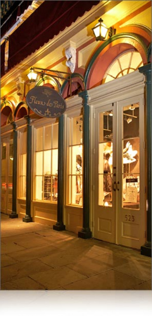 Exterior of shop in the French Quarter of New Orleans.