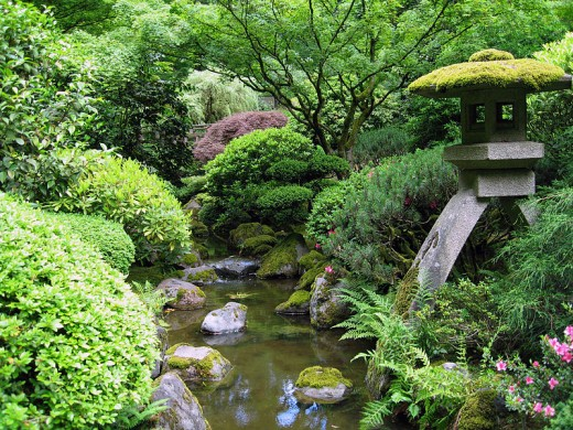 Japanese Garden in Portland, Oregon.
