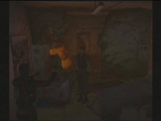Screen shot of Chris is Resident Evil Code: Veronica