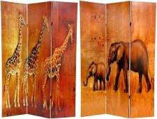 Jungle and Safari folding screens with printed themed images for decorating