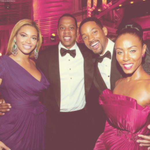 Beyonce, Jay-z, Will Smith and Jada Pinkett