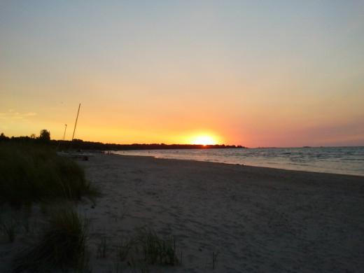 The fav part of Ipperwash Beach, the Sunset Pic