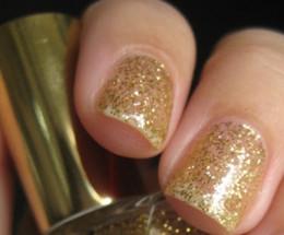 Real Gold 22kt Gold Glitter Polish