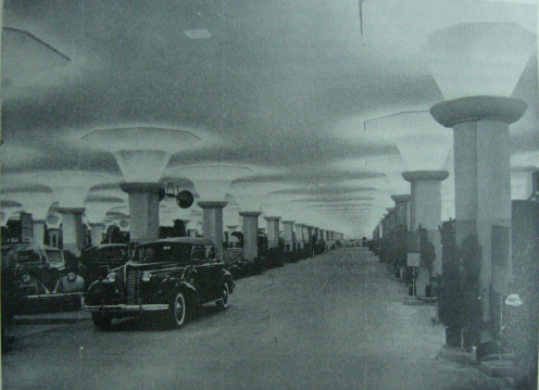 Underground parking provided by Buenos Aires municipality, July 9 Avenue, 1937