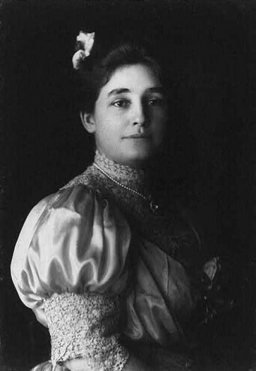 Mina Edison, née Mina Miller, second wife of American inventor,  circa 1906