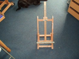 table top easel, useful for small work