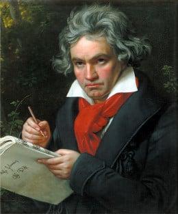 Ludwig von Beethoven at work