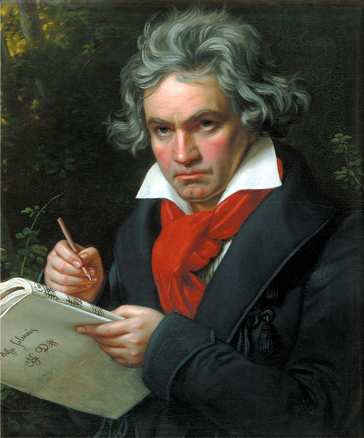 Portrait of Ludwig van Beethoven when composing the Missa Solemnis, by Joseph Karl Stieler (1781–1858), 1820