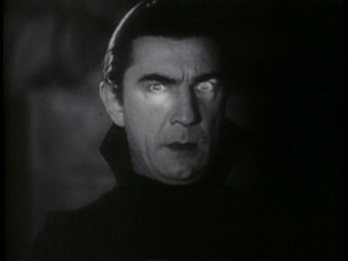 "Bela Legosi in the classic 1931 monster movie ""Dracula."""