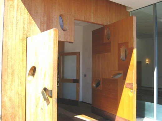 carved wooden doors (photo courtesy of Jodie Little)