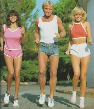 Old school aerobics example for the old school Dolphin Shorts