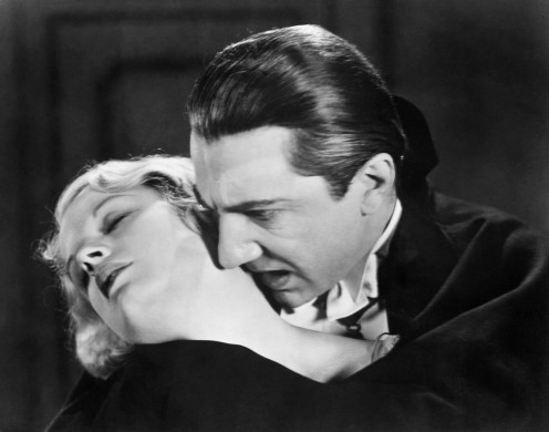 "Helen Chandler and Bela Legosi in ""Dracula."""