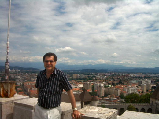 The author at the castle overlooking the city.