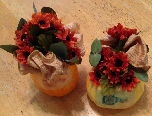 TIny sprigs of fragrance for miniature pumpkins.