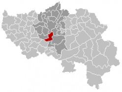 Map location of Esneux, Liège province, Belgium