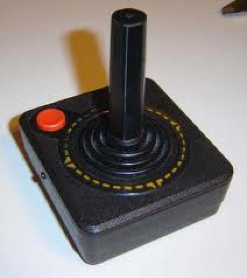 Atari Controllers in the early 1980's had only one button. Of course they eventually came out with two and then three button controllers.