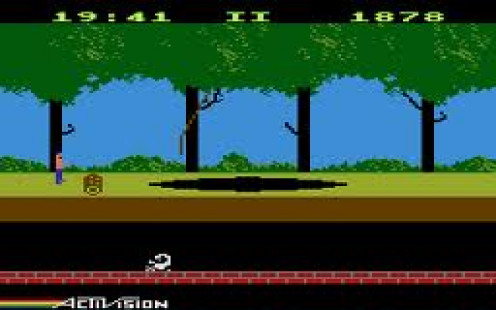 Pitfall is an arcade classic in which you swing from vines and dodge alligators and scorpions. The game was famous enough to eventually spawn a sequel on multiple gaming platforms.