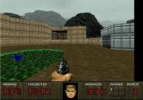 Doom was one of the best selling games on the Jaguar. It was played from a first person point of view.